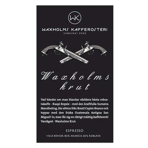 Waxholms Kafferosteri - Espresso Waxholms Krut - Mörkrostade kaffebönor - 500g