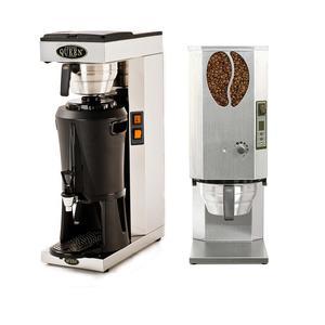 *Kampanj* Coffee Queen - Mega Gold M - Termosbryggare,  Kvarn Original, kaffebönor och filter