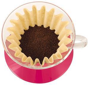 Kalita - Glass Dripper 185 - Cherry Pink - Filterhållare i glas