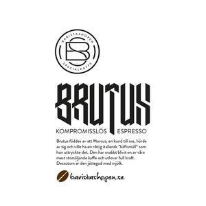 Baristashopen - Espresso Brutus 70/30 - Mörkrostade kaffebönor - 1000g