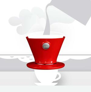 Wilfa WSPO Red- Manual Drip Coffee Maker - Röd
