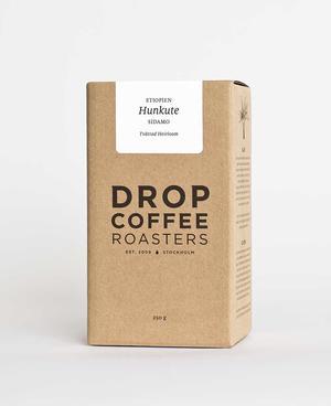 Drop Coffee - Hunkute - Etiopien - Ljusrostade kaffebönor - 250g