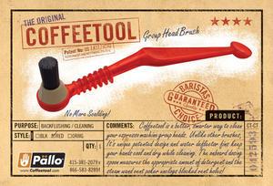 Pällo - Coffeetool LP - Svart borste för rengöring av grupphuvud