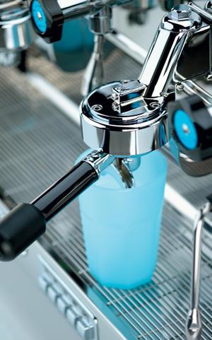 Elektra - BARLUME 2-group Blue Ocean - Snygg och högpresterande espressomaskin med 50-talsdesign - För restaurang, bar, café etc - Med två grupper