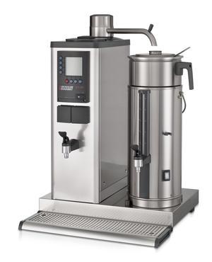 Bonamat - B10 HW L Bordsmodell - Urnbryggare - Brygger stora mängder kaffe i en behållare à 10 liter på vänster sida - Inklusive hetvattenkran