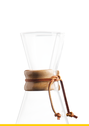 Chemex - Wood Collar & Tie for 3 Cup - Träring och lädersnöre