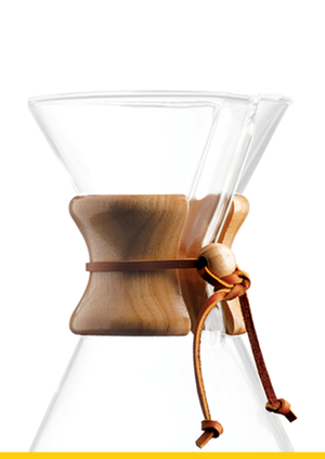 Chemex - Wood Collar & Tie for 6-10 Cup - Träring och lädersnöre
