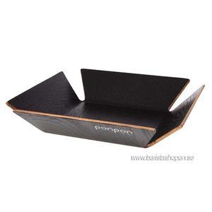 Ponpon Exploring Design - Tray Small Svart 31x31x6cm