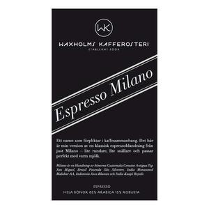 Waxholms Kafferosteri - Espresso Milano - Mörkrostade kaffebönor - 500g