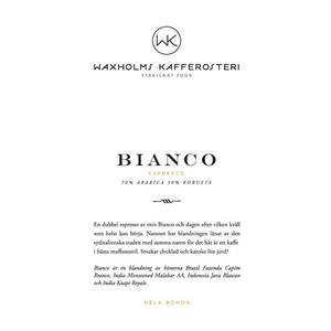 Waxholms Kafferosteri - Espresso Bianco - Mörkrostade kaffebönor - 500g
