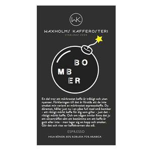 Waxholms Kafferosteri - Espresso Bomber Svart -  Mörkrostade kaffebönor - 500g