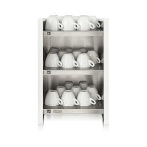 Bonamat - WHK Vit - Hylla med koppvärmare - Håller upp till 120 koppar varma innan användning