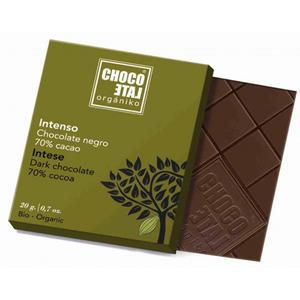 ChocoLate Orgániko - Dark Chocolate 70% Intenso - 20g