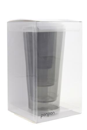 Ponpon Exploring Design - Glas Quartet grå 4-pack
