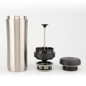 Espro - Travel Tea Press -  Brushed Stainless - Presskanna som gör te i spillfri termosmugg
