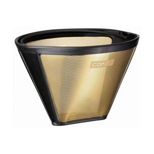 CORES Gold KF4 Coffee Filter - 1x4 permanent kaffefilter i 23 karats guld för 1-10 koppar kaffe