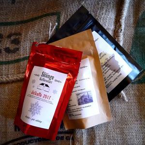 Slöinge kafferosteri - Julkaffekit BRYGGMALET - 3x70g - Guji Gigesa, Gitega och East African - Bryggmalda kaffebönor