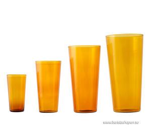 Ponpon Exploring Design - Glas Quartet bärnsten/amber 4-pack