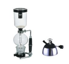Hario - Technica Syphon Brewer 5-kopp och Rekrow butangasbrännare