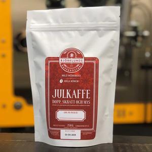 Björklunds kafferosteri -Julkaffe - Milt mörkrostade kaffebönor  - 250g