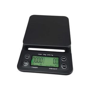 Våg med timer - Självkalibrerande Digitalvåg LCD med bakgrundsbelysning 0,1g-3000g
