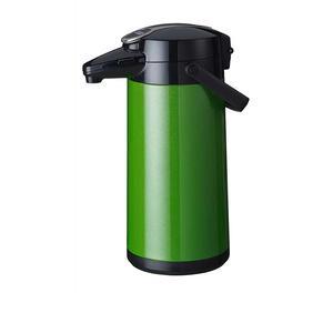 Bonamat - Airpot Furento - Pumptermos - Rostfri stålkärna - Grön metallisk - 2,2 liter