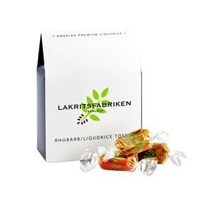 Lakritsfabriken - Liquorice - Rhubarb Toffee - Toffee Rabarber och lakrits- 100g