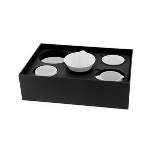 TimeMore - Tianmu Pour Over Gift Set White - Vitt porslin i kinesisk stil - Dripper, kanna, spillbricka & kopp i snygg presentförpackning
