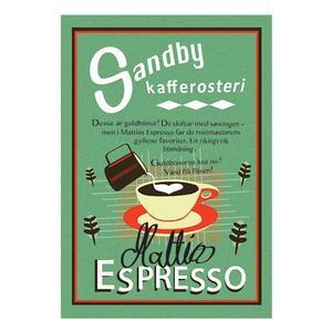 Sandby Kafferosteri – Mattias Espresso - Mörkrostade kaffebönor - 500g