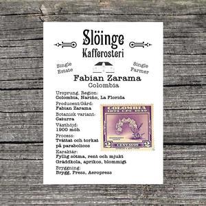 Slöinge kafferosteri - *Kampanj* - Fabian Zarama - Colombia - Ljusrostade kaffebönor - 250g