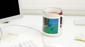 Dreamfarm - Mugghållaren Spink - Ivory White - håller din dryck på plats