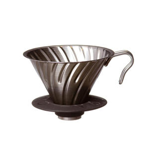 Hario - V60 02 - Vintage Metal Coffee Dripper Bronze VDM-02CP  - 2kopp