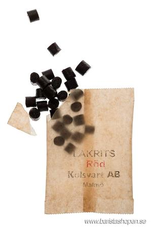 Kolsvart  AB Malmö - Lakrits Röd - Chili - 125g