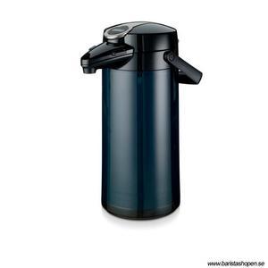 Bonamat - Airpot Furento - Mörkblå pumptermos med glaskärna - 2,2 liter
