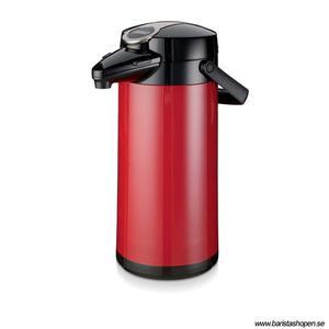 Bonamat - Airpot Furento - Röd pumptermos med glaskärna - 2,2 liter