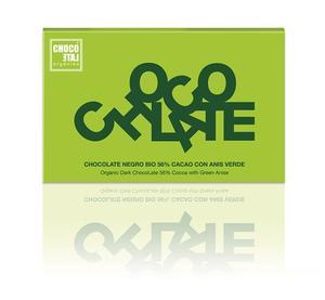 ChocoLate Orgániko - Dark Chocolate with Green Anis 56% - Ekologisk - 70g