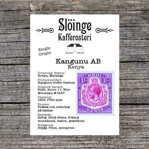 Slöinge kafferosteri - Kangunu AB - Washed - Kenya - Ljusrostade kaffebönor - 250g