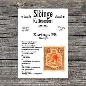 Slöinge kafferosteri - Karinga PB - Ljusrostade kaffebönor - 250g