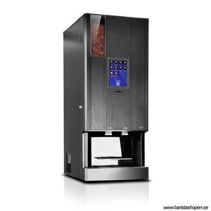 Coffee Queen - CQube LF13 W Touch Screen Svart - Exklusiv design med välsmakande, nybryggt kaffe - Modell med kallvatten - Behållare för malet kaffe