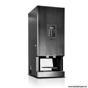 Coffee Queen - CQube LF04 CO2 Svart - Exklusiv design med välsmakande, nybryggt kaffe - Förberedd för att servera kolsyrat vatten - Behållare för malet kaffe