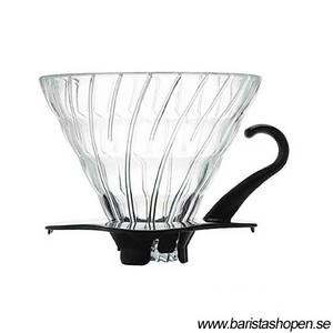 Hario - V60 02 - Glass Dripper VDG-02B- 2kopp Svart