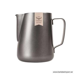 Espresso Gear - Pitcher Black - Non Stick Pitcher för att skumma mjölk till cappuccino och latte - 350ml