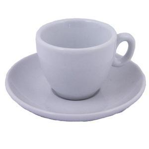 Inker - Espressokopp - vit kopp och fat för espresso