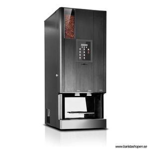 Coffee Queen - CQube LF13 CO2 Svart - Exklusiv design med välsmakande, nybryggt kaffe - Förberedd för att servera kolsyrat vatten - Behållare för hela bönor