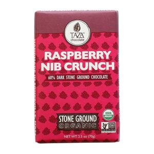 Taza Chocolate Raspberry Nib Crunch - 60% - Ekologisk choklad  - 70g