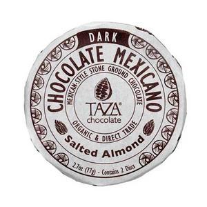 Taza Disc - Salted Almond -Ekologisk choklad med salta mandlar - 77g
