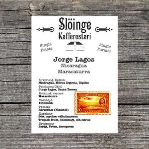 Slöinge kafferosteri - Jorge Lagos - Nicaragua - Ljusrostade kaffebönor - 250g