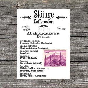 Slöinge kafferosteri - Abakundakawa - Natural - Ljusrostade kaffebönor - Rwanda - 250g