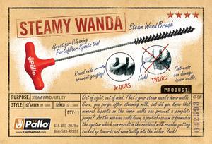 Pällo - Steamy Wanda - 7,5mm - Borste för rengöring av 8mm-ångrör (rött handtag)