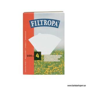 Filtropa - Ekologiska Vita pappersfilter - Storlek 4 (1x4) - För bästa smak på kaffet